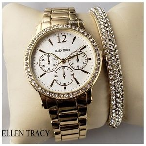 Ellen Tracy - Watch & Bracelet Bundle